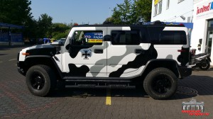 Hummer H2 Camouflage Wintertarn Folierung Car Wrapping Hauptstadt Wrapper (10)