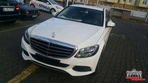Mercedes C Klasse Pearl White Hauptstadt Wrapper (2)