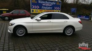 Mercedes C Klasse Pearl White Hauptstadt Wrapper (3)