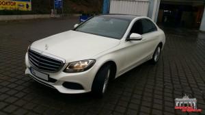 Mercedes C Klasse Pearl White Hauptstadt Wrapper (4)