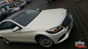 Mercedes C Klasse Pearl White Hauptstadt Wrapper (6)