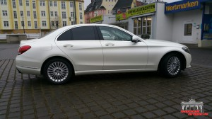 Mercedes C Klasse Pearl White Hauptstadt Wrapper (7)