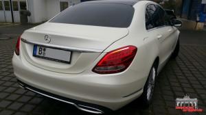 Mercedes C Klasse Pearl White Hauptstadt Wrapper (8)