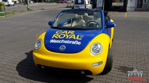 VW Beetle Folierung Car Wrapping Gelb Blau Car Royal (14)