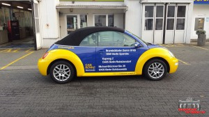 VW Beetle Folierung Car Wrapping Gelb Blau Car Royal (2)