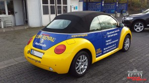 VW Beetle Folierung Car Wrapping Gelb Blau Car Royal (3)