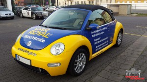 VW Beetle Folierung Car Wrapping Gelb Blau Car Royal (5)