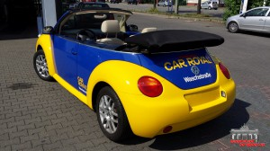 VW Beetle Folierung Car Wrapping Gelb Blau Car Royal (7)