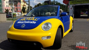 VW Beetle Folierung Car Wrapping Gelb Blau Car Royal (9)